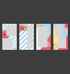 Flower natural background for instagram stories vector