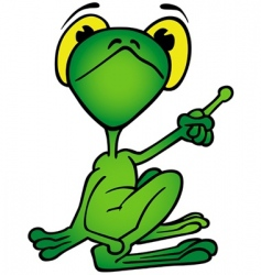 frog pointing vector image