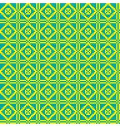 Geometric ethnic ornament seamless pattern vector image
