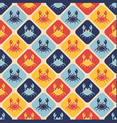 happy crabs pattern vector image