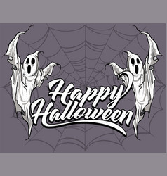 happy halloween ghosts vector image