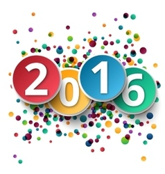 happy new year 2016 template background vector image