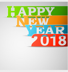 happy new year 2018 paper vector image