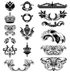 imperial ornaments vector image