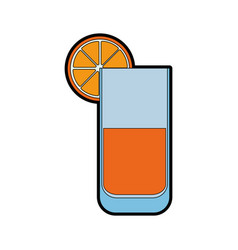 Isolated lemonade glass vector