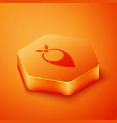 Isometric cowboy bandana icon isolated on orange vector