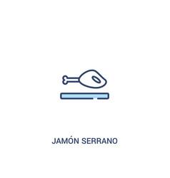 Jamn serrano concept 2 colored icon simple line vector