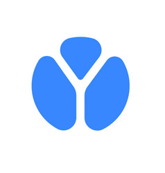 letter y logo modern blue font icon vector image