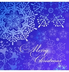 Merry Christmas blue shiny background vector image