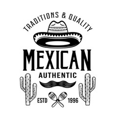 Mexican style emblem badge label or logos vector