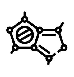 Molecular structure line icon isolated vector
