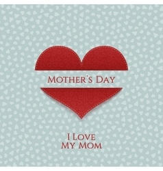 Mothers Day Banner Template with Heart vector image