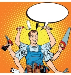 multi-armed master repair professional vector image