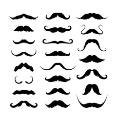Mustaches icons set vector
