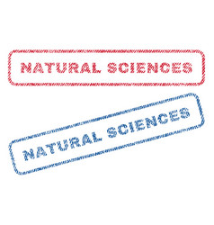 Natural sciences textile stamps vector