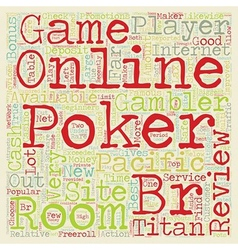 Online poker room reviews 1 text background vector