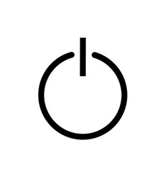 onoff switch symbol power thin line icon modern vector image