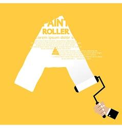 Paint Roller Alphabet A vector image
