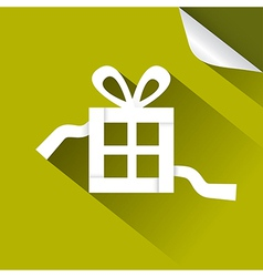 Paper Gift - Present Box Green lllustration with vector image vector image