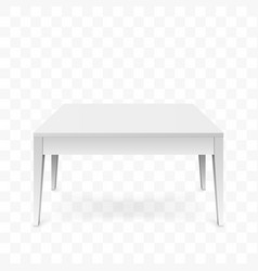 realistic white table isolated on transparent vector image