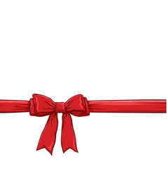 red bow and ribbon background vector image
