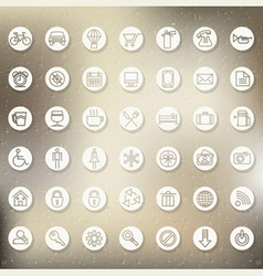 Retro Vintage style Icon collection vector image