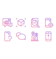 Search file augmented reality and messenger icons vector