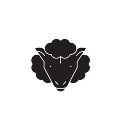 sheep black concept icon sheep flat vector image