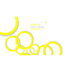 simple circles background with color yellow and vector image