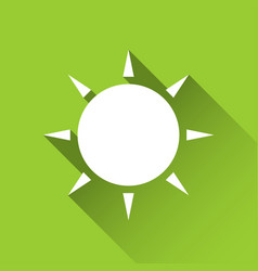 simple sun icon modern flat style icon vector image