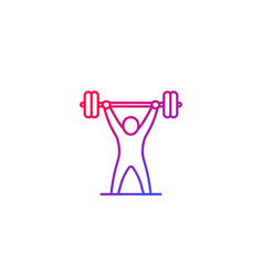 strength training icon workout gym fitness vector image