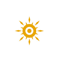 sun logo design template vector image