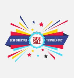 super sale banner discount off image design vector image