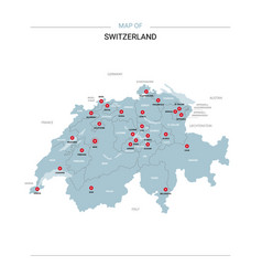 Switzerland map with red pin vector
