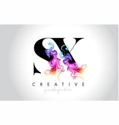 Sx vibrant creative leter logo design vector