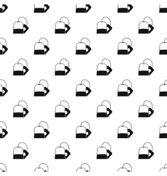 Teabag pattern simple style vector