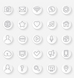 web icons set - contact and communication vector image