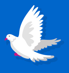 white bird landing vector image