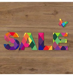 Wooden Background With Sale Text vector image