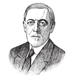 Woodrow wilson vintage vector