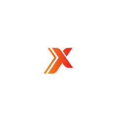 x initial sign logo vector image