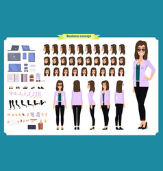 young woman casual clothes character vector image