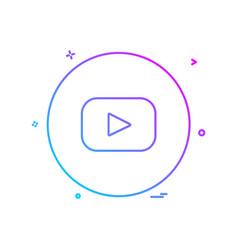 youtube icon design vector image