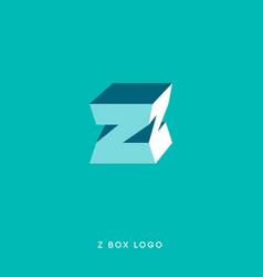 z box letter vector image