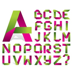 alphabet tape vector image vector image