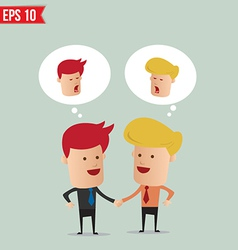 Business man hand shake - - EPS10 vector image