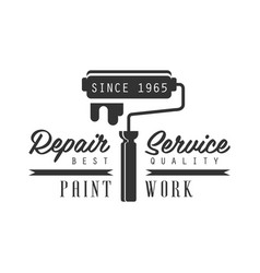 paint work repair and renovation service black vector image vector image