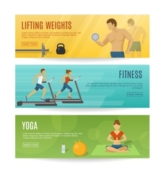 Sportive Lifestyle Horizontal Banners Set vector image vector image