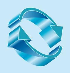 Arrows in circle vector image