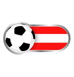 austria soccer icon vector image vector image